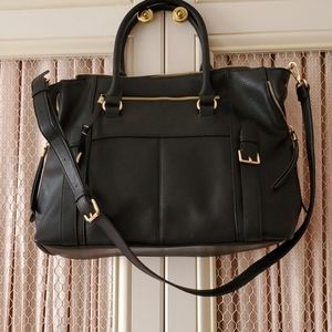 Faux Leather 😍Expandable Tote w/ Gold Hardware